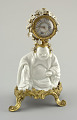 """View Mantle Clock Supported by a Hotei (""""Laughing Buddha"""") digital asset number 0"""