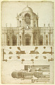View Proposed Elevation, Section, and Plan for the Facade of San Giovanni, Laterano, Rome, Italy digital asset number 0