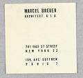 View Marcel Breuer, Architect A.I.A. digital asset number 1