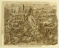 """View Recto: Minerva, or """"Arma"""" (Allegory of the Art of War), preliminary design for pl. 2 in the Schema, seu Speculum Principum (Skills of a Prince) series; Verso, above: Deer Hunt with Lassos; Below: Board Hunt with Shotguns digital asset number 0"""