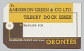 View Luggage Tag for the Orient Line's R.M.S. Orontes digital asset number 2