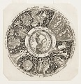 View Design for an Engraved Tazza with the Head of a Jester and a Satyr, representing Pride and Folly digital asset number 0