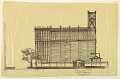 View Alternate Design for Side Elevation of Proposed First Lutheran Church, Boston, Massachusetts digital asset number 1