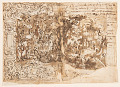 View Recto: Tapestry design with John the Baptist Preaching (or Christ among the bystanders); Verso: inscription digital asset number 0