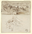 View Two Studies of Women Standing behind Railing, Looking at the Launching of Dories, Cullercoats, England digital asset number 2