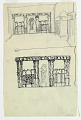 View Two Studies of Garden Wall Design with Columned Portico, Sculpture and Trellis digital asset number 1