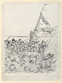 """View """"The Brownies on Samar"""": Sailing a Prahu, Illustration for """"The Brownies in the Phillippines"""" (New York, Century Company, 1904, p. 111) digital asset number 1"""