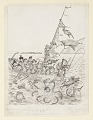 """View """"The Brownies on Samar"""": Sailing a Prahu, Illustration for """"The Brownies in the Phillippines"""" (New York, Century Company, 1904, p. 111) digital asset number 0"""