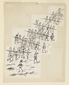 """View """"The Brownies' Flag-Pole,"""" Illustration for """"Another Brownie Book"""" (New York, Century Company, 1890, p. 124) digital asset number 0"""