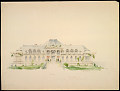 View Front Elevation of the Newport Country Club, Harrison Avenue, Newport, Rhode Island digital asset number 1