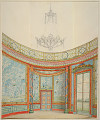 View Design for the Decoration of the Saloon, Royal Pavillion, Brighton digital asset number 0