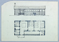 View Sauna Skizzen [Sauna Sketches (Façade Elevation and Floor Plan)] digital asset number 1