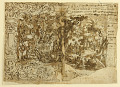 View Recto: Tapestry design with John the Baptist Preaching (or Christ among the bystanders); Verso: inscription digital asset number 1
