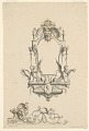 """View Design for Cartouche with Cupid, a Horse and Spears from """"Cartouches Nouvellement Inventez"""" digital asset number 1"""