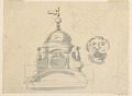 View Elevation of a Dome, Design for a Mask, and Caricature digital asset number 1