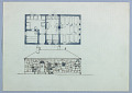 View Sauna Skizzen [Sauna Sketches (Floor Plan and Stonework Façade Elevation)] digital asset number 1