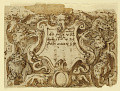 View Recto: preliminary design for title page for the print series Venationes Ferarum Arium Piscium; Verso: notes by Stradanus about payments to a tailor digital asset number 1