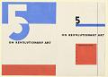 "View Design for a Book Cover, ""5 On Revolutionary Art"" digital asset number 1"