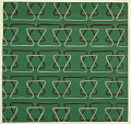 View Textile Design: Bands of Linear Triangles digital asset number 1