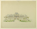 View Front Elevation of the Newport Country Club, Harrison Avenue, Newport, Rhode Island digital asset number 0