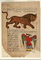 View Folio from Aja'ib al-Makhluqat (Wonders of Creation) by al-Qazvini; recto: Signs of the Zodiac: Leo (al-Asad), Virgo (al-'Adhra'); verso: Libra (al-Mizan), Scorpio (al-'Aqrab) digital asset number 0