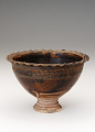 View Pedestal-footed bowl with interior stand digital asset number 0