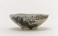 View Kenzan style tea bowl with design of mountain retreat digital asset number 0