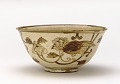 View Kenzan-style serving bowl with design of lion-dog and peony digital asset number 0