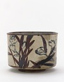 View Kenzan style tea bowl with inscription and design of narcissus digital asset number 0