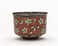 View Kenzan-style tea bowl with design of plum blossoms digital asset number 0