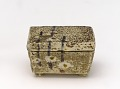 View White Raku incense container with design of plum shoots digital asset number 0