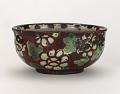 "View Food dish with chrysanthemum design, inscribed ""longevity"" digital asset number 0"