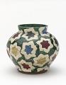 View Water jar or incense burner with design of maple leaves digital asset number 0