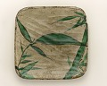 View Square dish with design of bamboo grass digital asset number 0