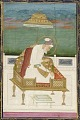 View Emperor Aurangzeb; reverse: calligraphic panel digital asset number 0