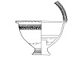 View Pedestal-footed bowl with interior stand digital asset number 7