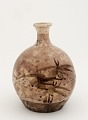 View Bottle with design of bamboo, possibly Tamba ware digital asset number 1