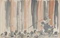 View Sketchbook depicting Kabuki play <i>Terokoya </i> digital asset number 2