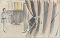 View Sketchbook depicting Kabuki play <i>Terokoya </i> digital asset number 3
