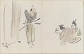View Sketchbook depicting Kabuki play <i>Terokoya </i> digital asset number 13