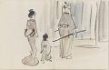 View Sketchbook depicting Kabuki play <i>Terokoya </i> digital asset number 15
