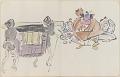 View Sketchbook depicting Kabuki play <i>Terokoya </i> digital asset number 18