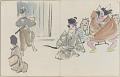 View Sketchbook depicting Kabuki play <i>Terokoya </i> digital asset number 32