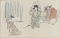 View Sketchbook depicting Kabuki play <i>Terokoya </i> digital asset number 33