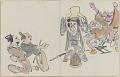 View Sketchbook depicting Kabuki play <i>Terokoya </i> digital asset number 36