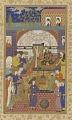 View Folio from a Habib al-siyar (The beloved of virtues) by Khvandamir (d. 1534-37); recto: Nushirwan enthroned; verso: illumination digital asset number 0