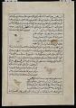 View <em>Aja'ib al-makhluqat</em> (Wonders of Creation), by Muhammad al-Qazvini; recto: Ringdove (Fahtia), Partridge (Qabj), Lark (Qubra); verso: Sand grouse (Qata), Canary (Qumra), Phoenix (Qugnus) digital asset number 1