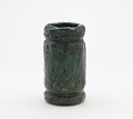 View Cylindrical vase or water jar, style of Iga ware digital asset number 0