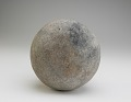 View Vessel with round bottom, incised decor, and overall cord-wrapped paddle-impressed texture digital asset number 1