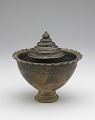 View Pedestal-footed bowl with interior stand digital asset number 3